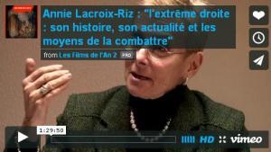 (Vidéo) A Lacroix Riz L'extrême droite: son histoire, son actualité et les moyens de la combattre.