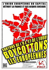 affiche boycott l'UE