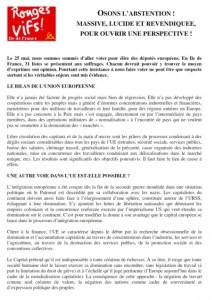 Boycott des élections européennes, les appels d'Action Communiste et Rouge Vif IdF