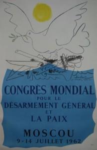 picasso congrès mondial de la paix colombe