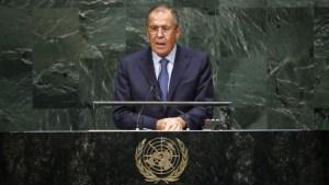 Discours de Serguei Lavrov ministre russe des Affaires étrangères à l'ONU