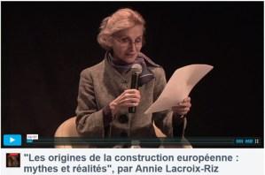 NICE – CONFÉRENCE- Les origines de la construction européenne par ANNIE LACROIX RIZ  – 22 avril 2016