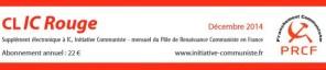 le CLIC rouge de décembre 2014 est paru [supplément electronique gratuit à Initiative Communiste]