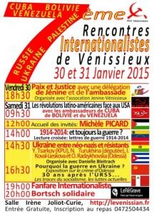 LE PRCF AUX RENCONTRES INTERNATIONALISTES DE VÉNISSIEUX