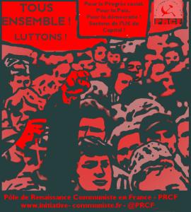 Le PRCF soutient la journée de lutte du 26 janvier – Communiqué