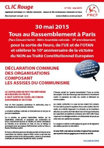 CLIC rouge spécial #30 mai : Tous Ensemble à Paris !
