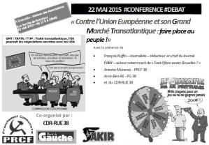 22 Mai : Conférence Débat Contre l'UE et son grand marché transatlantique : faire place au peuple ! #Grenoble