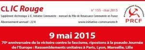 CLIC rouge mai 2015 –  [supplément électronique gratuit à Initiative Communiste – abonnez vous à IC !]
