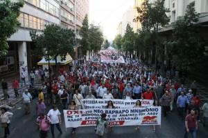 15 juillet : Manifestations massives en Grèce à l'appel du PAME contre le memorandum UE-Tsipras [PHOTOS]