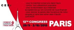 Après le congrès de la CES (confédération européenne des syndicats) – FSC