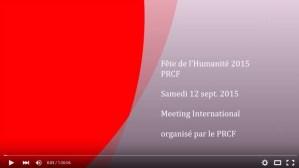 #vidéo Meeting international sur le stand du PRCF à la Fête de l'Humanité 2015 #FDH15 #Cuba #Ukraine #Mali #Indonésie #Liban