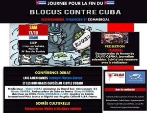 Journée contre le blocus des Etats-Unis contre Cuba