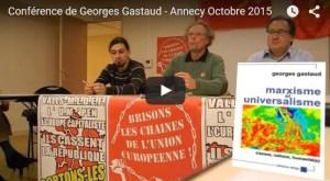 Vidéo : Euro, UE, OTAN, capitalisme, en sortir pour s'en sortir ! conférence de Georges Gastaud