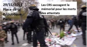 #COP21 MANIF ET HEURTS PLACE DE LA RÉPUBLIQUE –  Communiqué du PRCF #vidéo