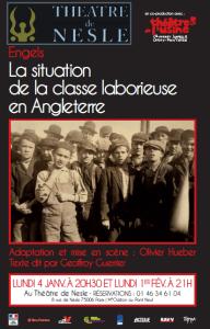 """Théâtre : """"La situation de la Classe laborieuse en Angleterre"""" de Engels – Paris 4 janvier"""