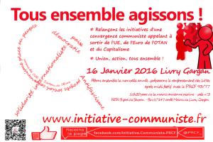 16 janvier 2015 : Tous ensemble, agissons ! – PRCF 77/93 – Livry Gargan