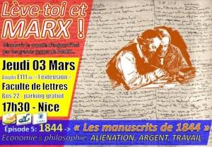 """Lève toi et Marx – Conférence sur les manuscrits dit de """"1844"""" – Nice 3 mars 2016 – Faculté de lettre"""