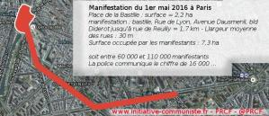 Manifestations : Quant les chiffres de la police tournent au ridicule exemple avec la manifestation à Paris le 1er mai !