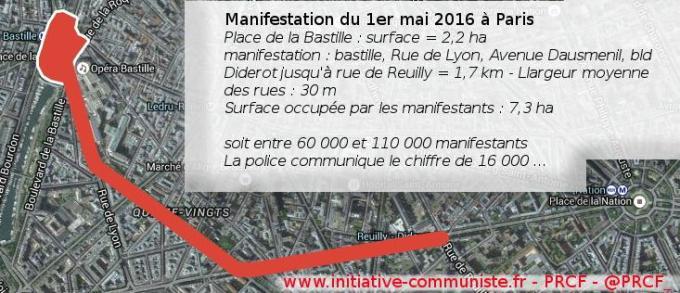 manifestation 1er mai paris 2016 chiffres