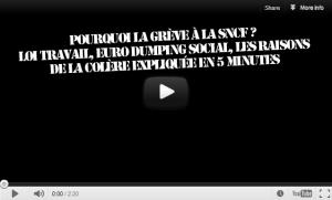 #vidéo Pourquoi la grève à la SNCF ? 5 minutes pour comprendre pourquoi #jesoutienslagrève #CCN #loitravail