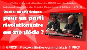 Quel parti révolutionnaire pour le 21e siècle ? les réponses du séminaire de Milan avec les communiste italiens, français, suisses, phillipins