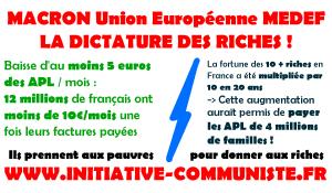 Baisse des APL de 50 €, gel du livret A : le plan Macron pour faire les poches du peuple ! dans - ECLAIRAGE - REFLEXION