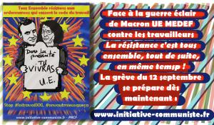 #vidéo L'appel à résister aux euro-ordonnances de Georges Gastaud #PRCF #12septembre