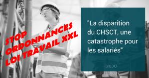 #Ordonnances : La santé des travailleuses et travailleurs menacée ! les CHSCT supprimés !