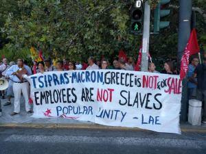 Grèce : malgré les interdictions, les grecs manifestent contre Macron à Athènes !