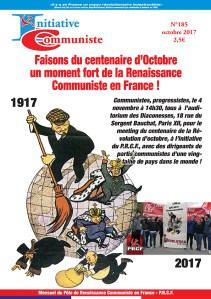 IC n°185. Centenaire de la Révolution d'octobre : tous à Paris le 4 novembre !