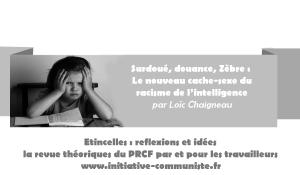 Surdoué, douance, Zèbre : Le nouveau cache-sexe du racisme de l'intelligence  – par Loïc Chaigneau