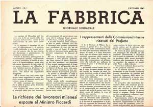Il giornale sindacale La Fabbrica sugli scioperi