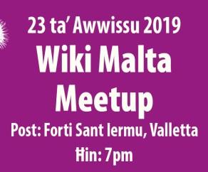 MMLF2019 - 23 Aug - Wiki Malta Event