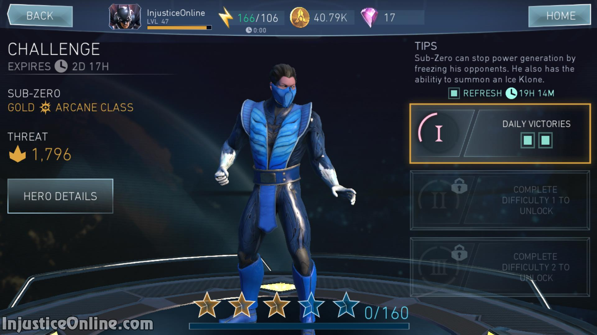 Injustice 2 Mobile Sub Zero Challenge Screenshot 02 InjusticeOnline