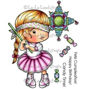La-La Land Cling Mount Rubber Stamps Pinata Marci