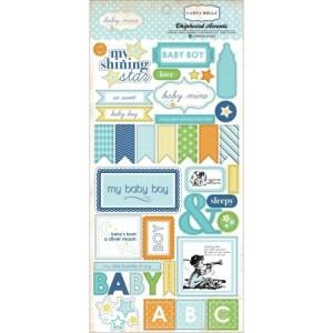 Baby Mine Boy Chipboard Accents 6″X13″