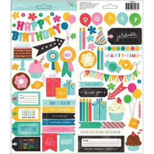 Birthday Wishes Cardstock Stickers 6″X12″ 2/Sheets