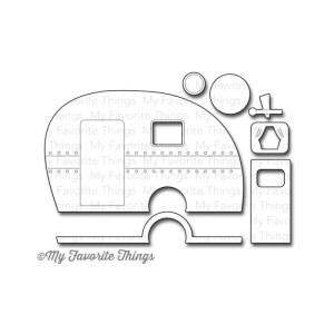 Die-Namics Dies – Happy Camper, .375″ To 3.875″X2.375″