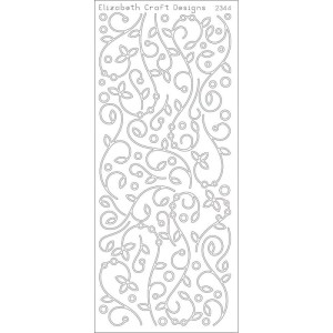 Doodles W/Leaves Peel-Off Stickers – Silver
