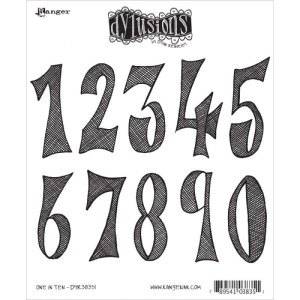 Dyan Reaveley's Dylusions Cling Stamp Collections 8.5″X7″ – One In Ten