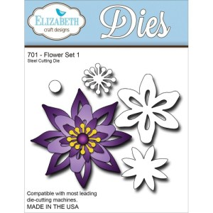Elizabeth Craft Metal Die – Flower Set 1