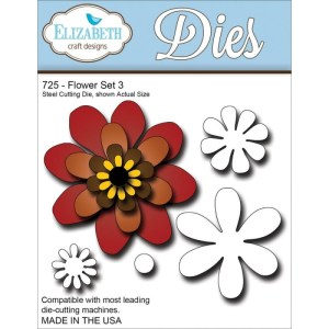 Elizabeth Craft Metal Die – Flower Set 3