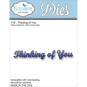 Elizabeth Craft Metal Die – Thinking Of You