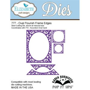 Elizabeth Craft Pop It Up Metal Dies By Karen Burniston – Oval Flourish Frame Edges