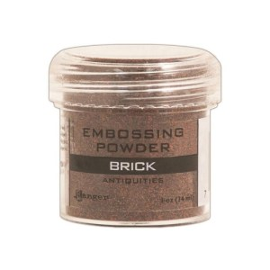 Embossing Powder .56oz Jar – Brick