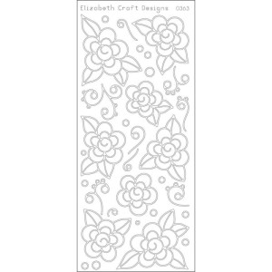 Flowers W/Doodles Peel-Off Stickers – Black