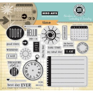 Hero Arts Adventures In Cardmaking & Journaling Cling Stamps – Time 8″X6″