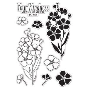 Hero Arts Clear Stamps 4″X6″ Sheet – Night & Day Flowers