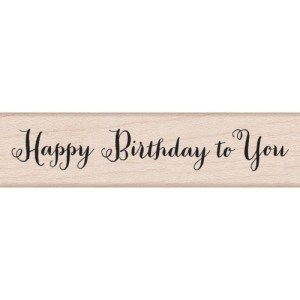 Hero Arts Mounted Rubber Stamps .5″X3″ – Happy Birthday