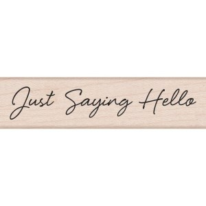 Hero Arts Mounted Rubber Stamps .5″X3″ – Little Greetings Just Saying Hello